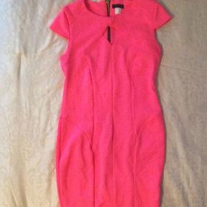 Venus Bright Pink Dress Back Zipper Key Hole Front